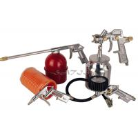 China 5PCS Auto Paint Gun Kits Suction Feed Type , air spray gun set wholesale