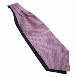 China Silk Jacquard Cravat Tie, Measures 125 x 12cm, Machine-made on sale