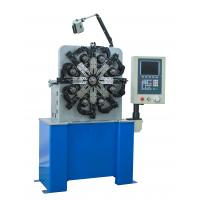 China Blue CNC Spring Coiling Machine , Flat Small Coil Winding Machine CE Certification wholesale
