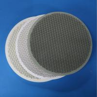 China Round  Gas Heater Plates , Cordierite Ceramic Polished Surface Treatment on sale