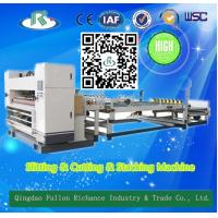 China Automatic Corrugated  Single Face Paper Nc Slitter & Nc Cutter & Stacker wholesale