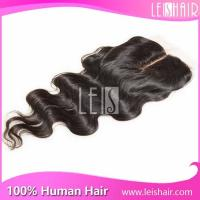 China high quality unprocessed virgin hair silk base lace closure on sale