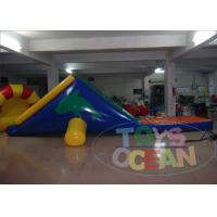 China Air Sealed Floating Inflatable Water Game Dolphin Design With Slide 0.9mm PVC wholesale