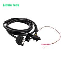 4 way Plug to 3 Pin Pigtail Wiring Harness Loom Kit for Truck Trailer Tail Lights