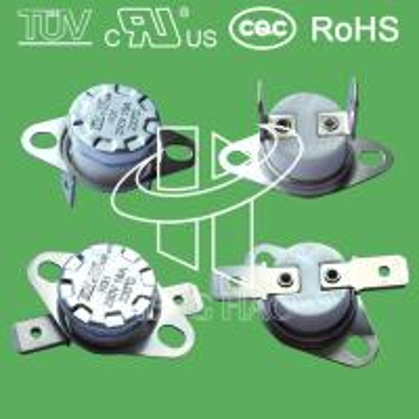 Quality 16A 125V Bimetal Bent Terminal Momentary KSD301 Thermostat for sale