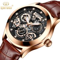 China Shockproof Leather Wrist Watch Scratch Resistance Table Mirror Long Service Life on sale