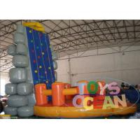 Quality Inflatable Interactive Games Inflatable Moving Rock Climbing Wall For Sport Game for sale