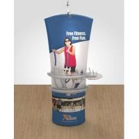 China Double sided Stretch Angled Fabric Banner Stand Display With Case To Podium wholesale
