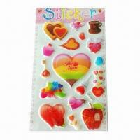 China EVA Foam Stickers with 1mm Thickness, Used for Album, Notebook and Wall Decoration wholesale