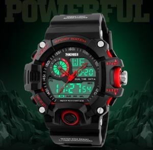 China Skmei SKMEI Green Camouflage S SHOCK 50m Waterproof Military Wrist Watch ABS Resin S/S CAMO 1029 wholesale