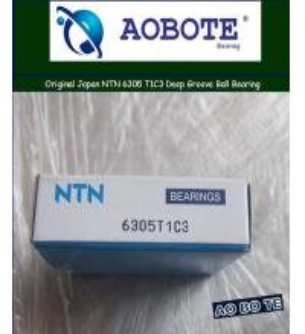 China Deep Groove NTN Ball Bearings 6305 T1C3 , 2RS Single Row with Radial Load wholesale