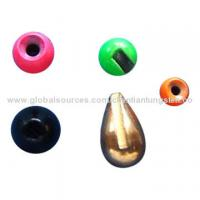 Tungsten colored fly fishing sinkers