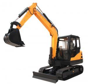 China 6.5ton steel track digger cralwer excavator with Kubota engine