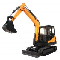 Quality China 6.5ton steel track digger cralwer excavator with Kubota engine for sale