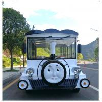 Quality 8 Seats Electric Sightseeing Car , Electric Tour Bus 30km / H Max Speed for sale