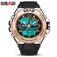 China Wholesale Sbao Men TPU Band Waterproof 30m Chronograph Alarm Dual Time Chime Multifunction Sport  Watch 8025 wholesale