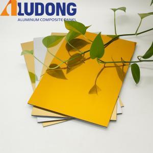 China Mirrior Unbreakable Acm Aluminum Panels For Interior Decoration wholesale