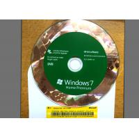 China Original DVD Win 7 Basic Home , Windows 7 Retail Version For 1 PC Using wholesale