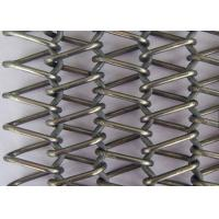 China Stainless Steel Flat Wire Mesh Spiral Woven Decorative Mesh For Architecture wholesale