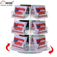 China Custom Rotating Counter Display Racks , Acrylic Business Card Display Holder 3 - Layer wholesale