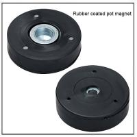 China rubber-coated component magnets base with internal thread wholesale