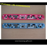 China wholesale China supplier promotional gift silicone slap band with printing logo wholesale