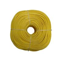 China Sailboat Winch Towing Yellow UHMWPE Fiber Rope Hollow Braid 4mm 100 Meters wholesale