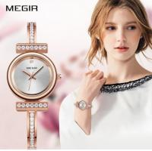 China MEGIR Fashion Classic Three Pin Zircon High Quality Quartz Ladies Simple Watches 4196L wholesale