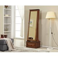 China Stand Up Living Room Wooden Dressing Mirror With Sliding Drawer wholesale