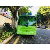 Quality 4 Seats Electric Sightseeing Car , Fiberglass Green Color Electric People Mover for sale