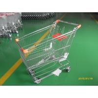 Quality Retail Store Steel Wheeled Shopping Cart 180 L Basket Bottom Rack for sale
