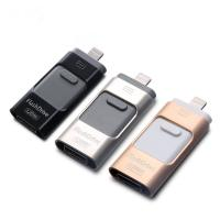 China 3 in 1  OTG USB3.0 Flash Drives 8GB-16GB-32GB-64GB Pendrive memory sticks for iPhone 6s 6 5 & Samsung Galaxy s5 s3 & PC wholesale
