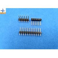 China 2.54mm pitch single row pin header vertical male connector for female crimp connectors wholesale