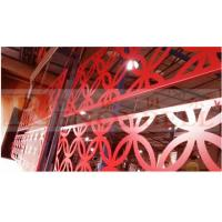 China Durable Glossness Red Perforated Aluminum Panels For Buildings wholesale