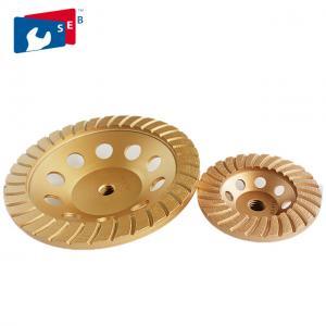 China Hot Press Diamond Cup Wheel , Diamond Floor Grinding Disc With Arrow Segment on sale