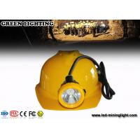 China IP68 Waterproof  Hard Hats Light , 12000lux Ultra Bright Mining Cap Lights With 6.6Ah Battery wholesale