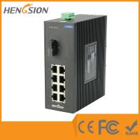 China 8 Port + 1 Port Industrial Dinrail Outdoor Network Switch 154*128.5*58mm wholesale