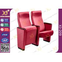 Red Acrylic Fabric Public Space Church Install Conference Room Chairs With Long