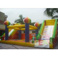 China Orange Inflatable Jumper Outdoor Bouncy Castle Amusement  Extrior With Slide wholesale