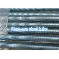 China Alloy / Stainless 304 / 201 Threaded Steel Rod Plain Black Color Zinc Plated wholesale