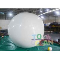 China DIA2M White PVC Round White Inflatable Balloon For Adversting wholesale