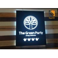 China Wall Mounted Indoor Store Led Directional Signs / Logo Metal Signbox with Backlit & Frontlit Lighting wholesale