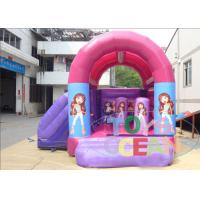 China Party Pink Small Inflatable Bouncer Combo House Funny For Backyard wholesale