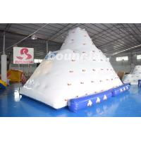 China Inflatable Water Climber / Inflatable Iceberg With Big Stainless Steel Anchor Ring wholesale