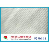 China Small Pearl Dot Spunlace Nonwoven Fabric , Nonwoven Roll Ultra Thick 30~120GSM wholesale