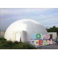 China Huge White Inflatable Dome Tent / Outdoor Inflatable Igloo Marquee For Event wholesale