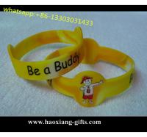 China Factory directly customized 202*12*15*2mm blank silicone wristband/bracelet wholesale
