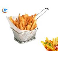 China Mini Metal Stainless Steel Wire Mesh French Fries Fry Holder Basket For Potato Chips wholesale