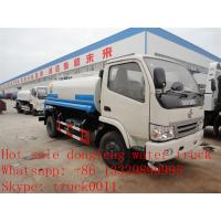 China cheapesr price Dongfeng XBW LHD 4*2 5,000L water tank for sale, Factory sale good price dongfeng 5m3  cistern truck wholesale