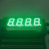 China Four Digit 7 segment Numeric LED Display 0.4 inch pure green for temperature control wholesale